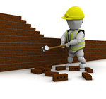 • Demolished brickwork or concrete